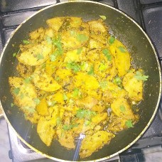 Yam cooked in Nawabi Style