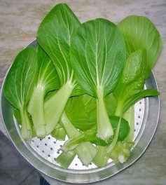 Washed bok choy