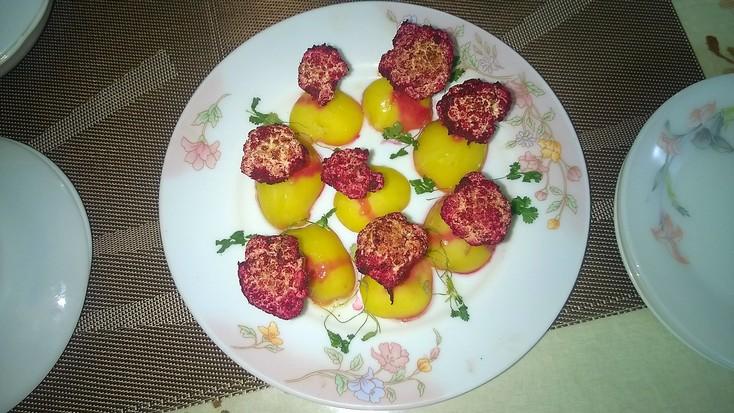 rose garden, roasted cauliflower