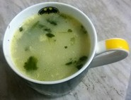 cream of leek and coriander soup