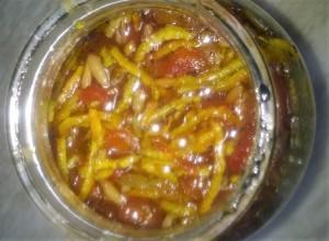Cherry Tomato Orange Marmalade with Pinenuts