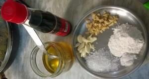 Ingredients to cook garlic sauce