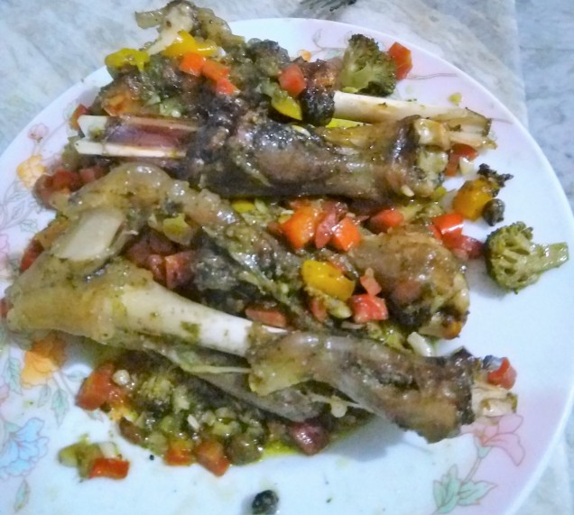 Lamb Shanks Grilled with Coriander