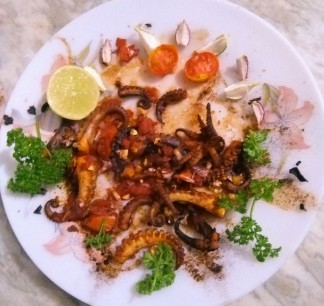 Pan Fried Octopus