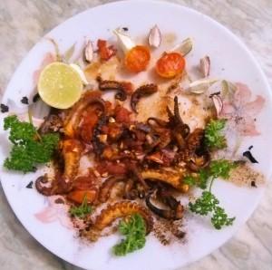 Pan Fried Octopus
