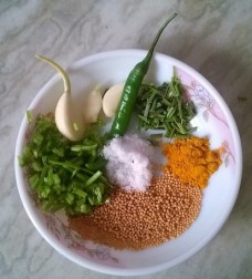 Ingredients to cook Yam / Ratalu