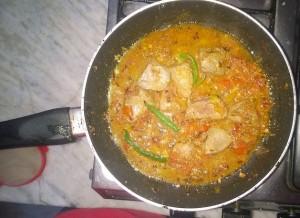 Preparing Gurda Kaleji Taka Tak