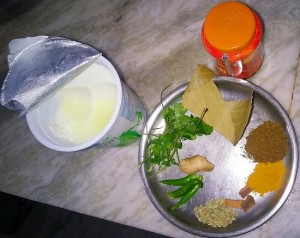 Ingredients of Mutton Curry Sunshine