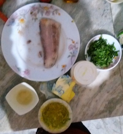 Ingredients of Mahi Mahi in Basil Butter