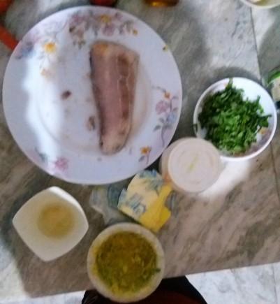 Ingredients of Mahi Mahi in Basil Butter