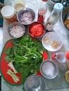 Ingredients of Kimchi Salad