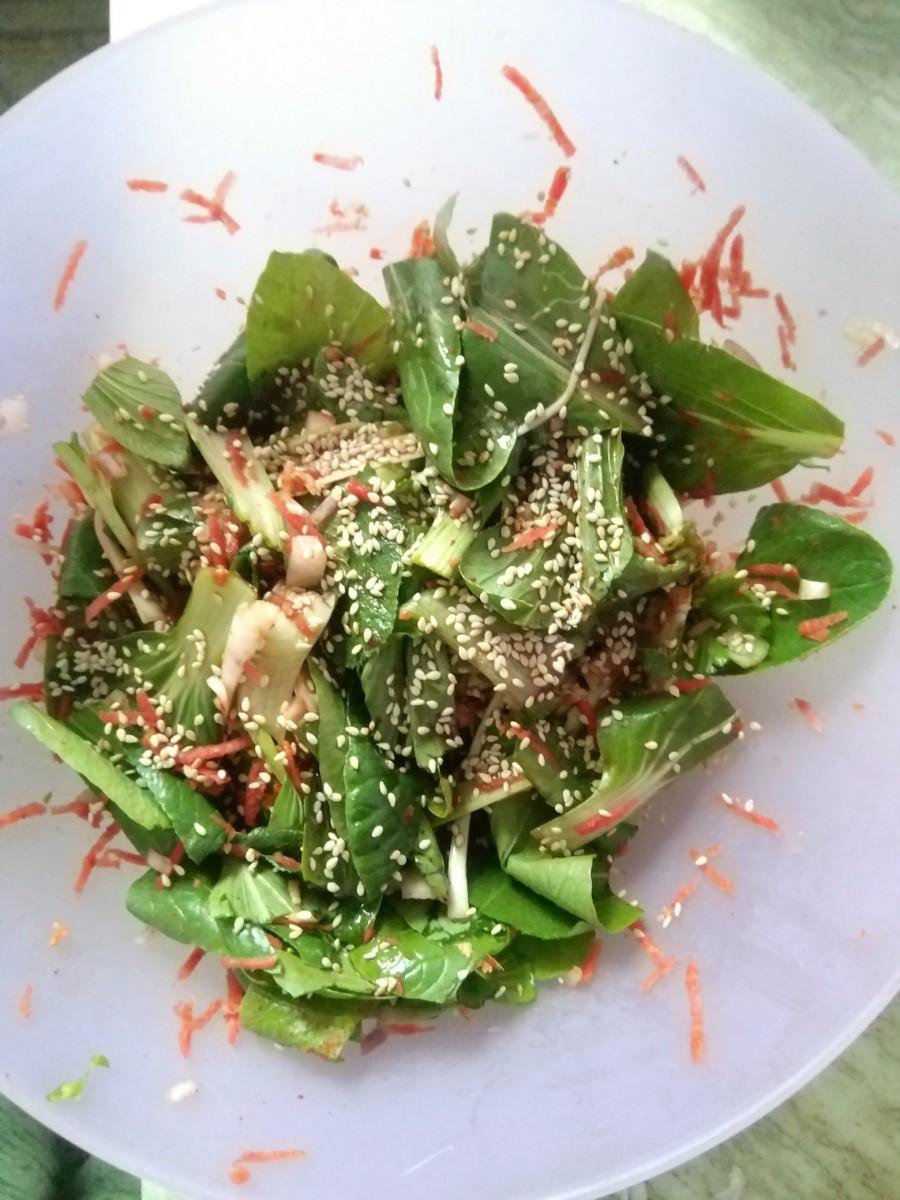 Quick Kimchi Salad