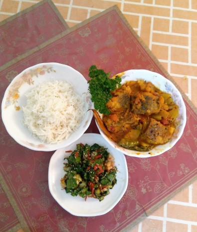 Rui Macher Kalia / Rohu Fish Curry
