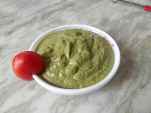 Broccoli Stalks Pesto Dip