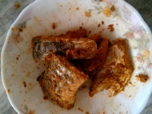 Ingredients of Fried Fish