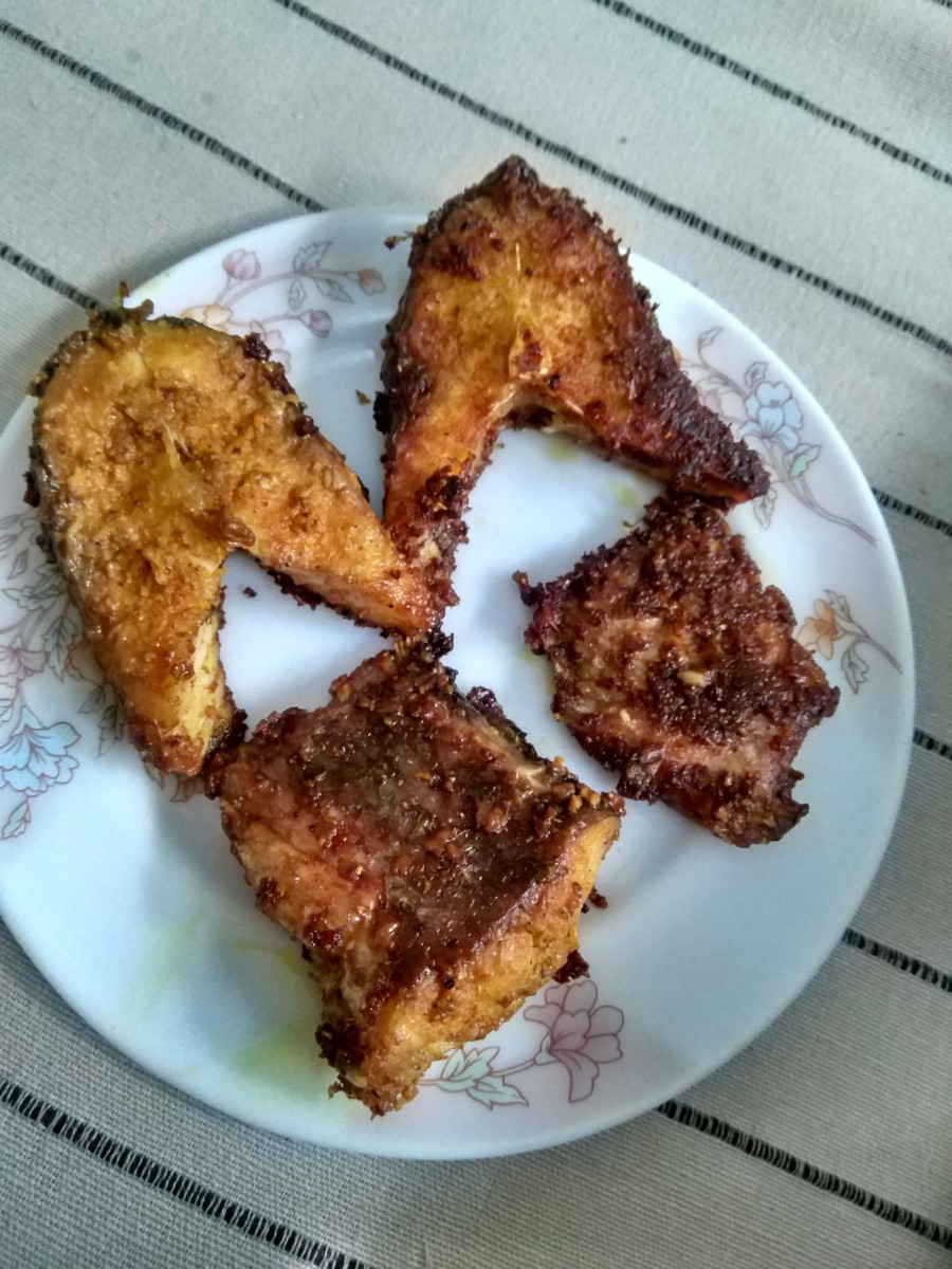 Pan Fried Rohu Fish